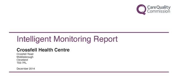 Care Quality Commission Intelligent Monitoring Report Crossfell Health Centre